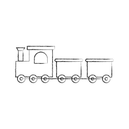 A train toy isolated icon vector line illustration design. Stock Vector - 81625034