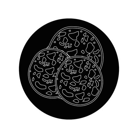 Ham plate symbol icon vector illustration graphic design