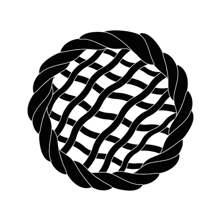 파이 디저트 음식 아이콘 벡터 일러스트 그래픽 디자인