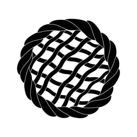 Tarte dessert alimentaire icône vector illustration graphisme Banque d'images - 81625132