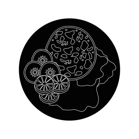 Delicious bbq food icon vector illustration graphic design