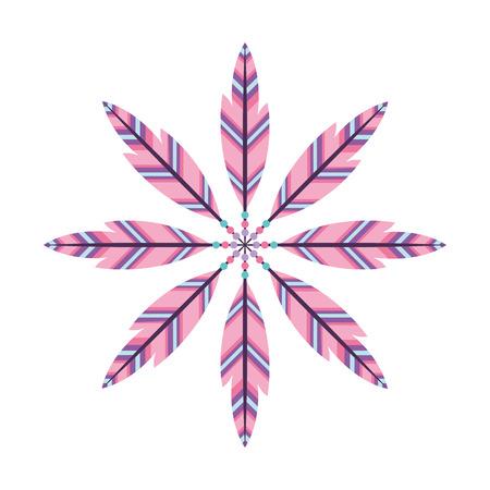Boho estilo plumas decorativas ilustración vectorial diseño Foto de archivo - 81627293