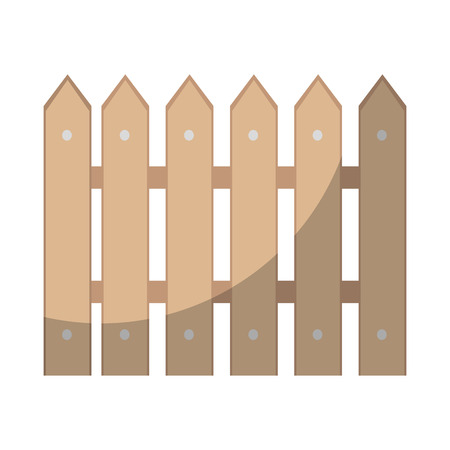 wooden fence isolated icon vector illustration graphic design
