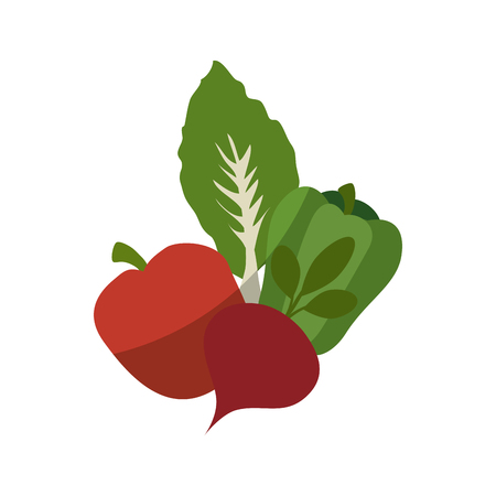 Healthy vegetables symbol icon vector illustration graphic design