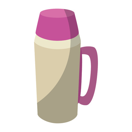 Thermos flask black icon vector illustration graphic design Illustration