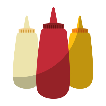 Sauce plastic bottles icon vector illustration graphic design Ilustração