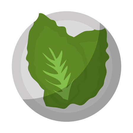 サラダ野菜食糧のアイコン ベクトル イラスト グラフィック デザイン