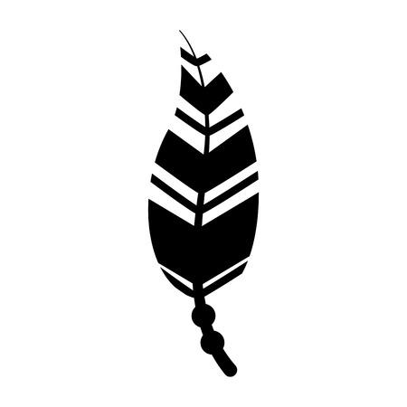 Boho estilo decorativo pluma ilustración vectorial diseño Foto de archivo - 81621347