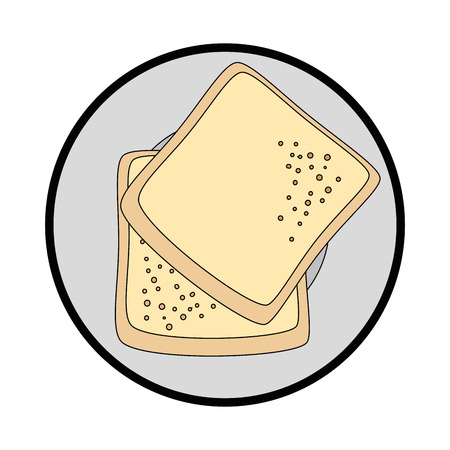 Bread wheat food vector icon vector illustration graphic design Ilustração