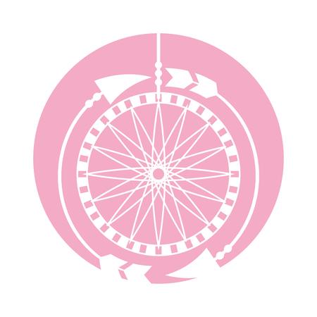 Boho style dream catcher vector illustration design