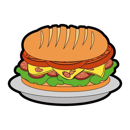 Sandwich food vector icon vector illustration graphic design