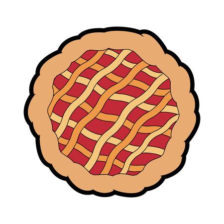 パイ デザート食品のアイコン ベクトル イラスト グラフィック デザイン