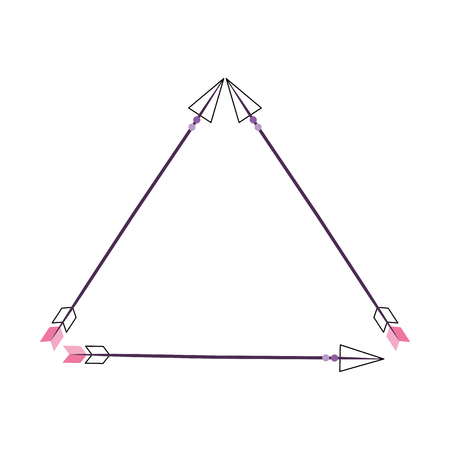Decorative arrows boho style vector illustration design