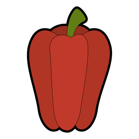 Fresh pepper vegetable icon vector illustration graphic design Ilustração