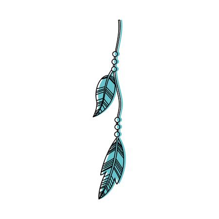 plume: Boho style decorative feather vector illustration design