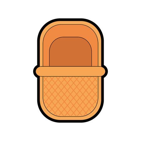picnic basket cartoon icon vector illustration graphic design