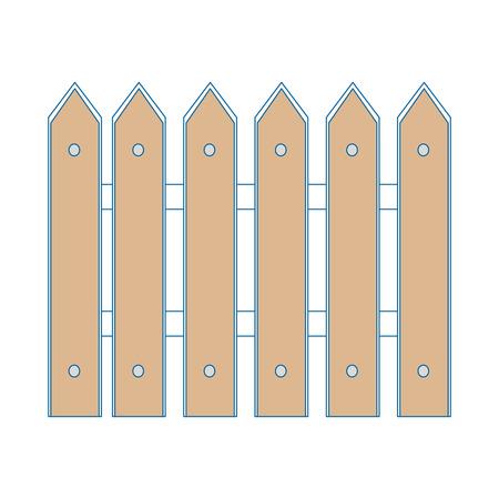 木製のフェンスは、アイコン ベクトル イラスト グラフィック デザインを分離しました。