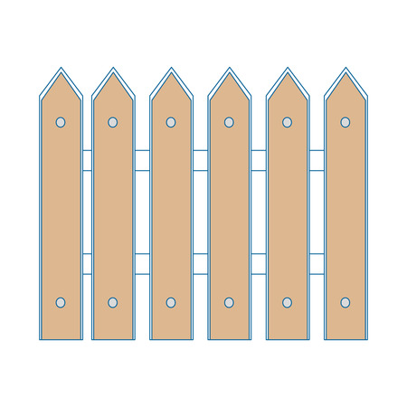 A wooden fence isolated icon vector illustration graphic design. 向量圖像