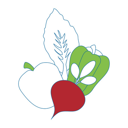 Healthy vegetables symbol icon vector illustration graphic design.