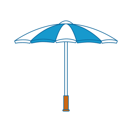 Umbrella weather protection icon vector illustration graphic design
