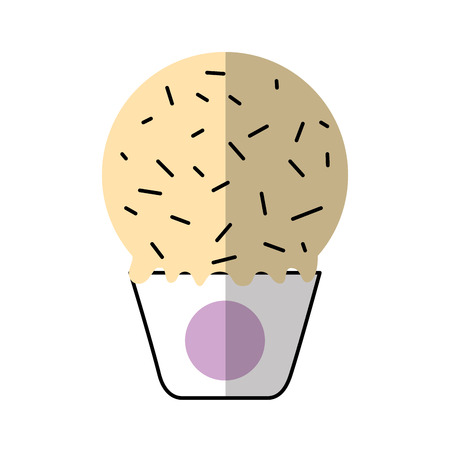 Delicious ice cream basket vector illustration design.