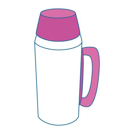 Una progettazione grafica dell'illustrazione nera di vettore dell'icona della boccetta del thermos. Archivio Fotografico - 81618613