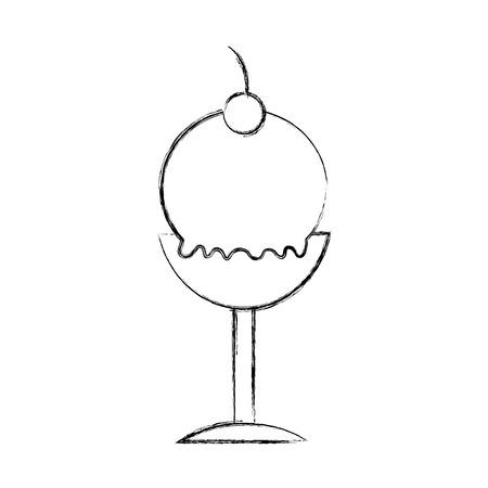 Délicieux crème glacée coupe icône vector illustration design Banque d'images - 81632718