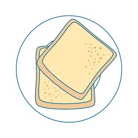 パン小麦食品ベクトル アイコン ベクトル イラスト グラフィック デザイン  イラスト・ベクター素材