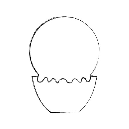 Delicious ice cream basket vector illustration design 向量圖像
