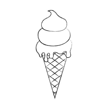 おいしいアイス クリーム コーン ベクトル イラスト デザイン  イラスト・ベクター素材