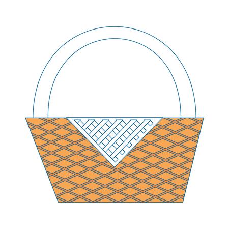 camping basket cartoon icon vector illustration graphic design Ilustrace