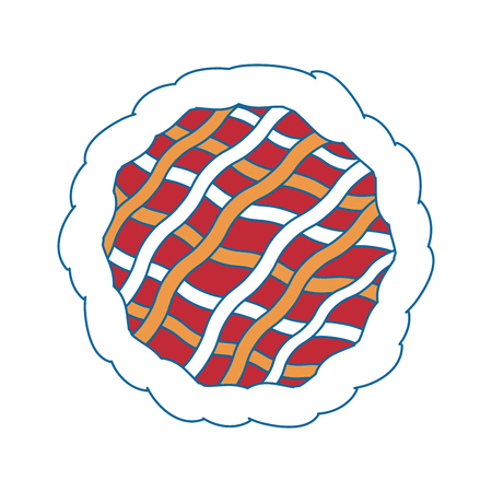 Pie dessert food icon vector illustration graphic design Ilustracja
