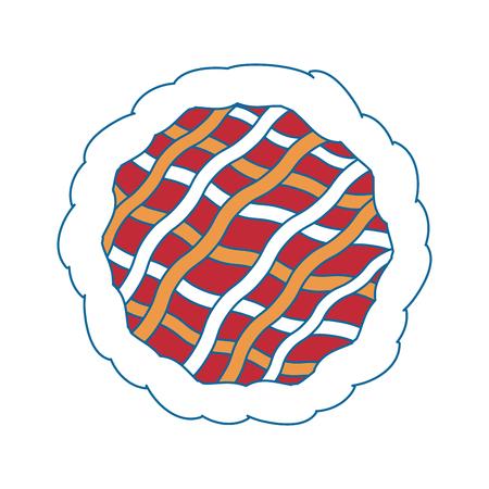 Tarte dessert alimentaire icône vector illustration graphisme Banque d'images - 81622101