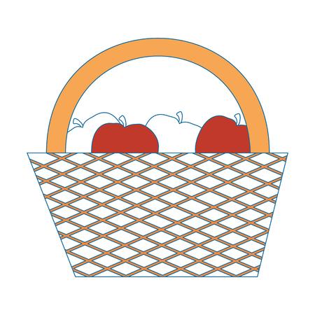 Camping cesta de dibujos animados iconos ilustración vectorial diseño gráfico Foto de archivo - 81626534