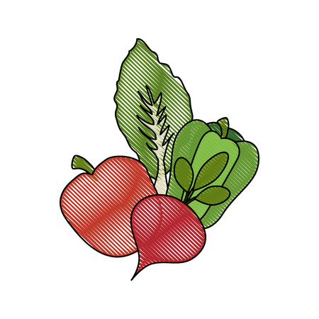 Healthy vegetables symbol icon vector illustration graphic design
