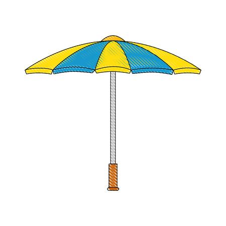 傘の天気保護のアイコン ベクトル イラスト グラフィック デザイン