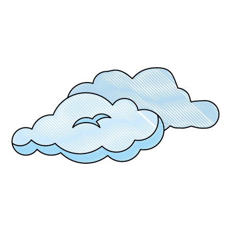 cloud weather draw vector icon vector illustration graphic design