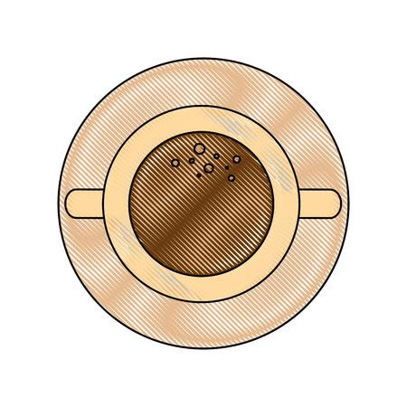 Koffiemok pictogram vectorillustratie