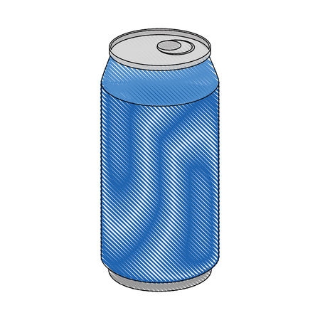 soft drink can icon over white background vector illustration
