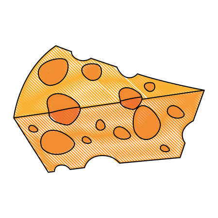cheese icon over white background colorful design vector illustration