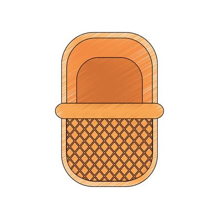 picnic basket icon over white background vector illustration