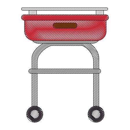Icône écarqueuse de buffet sur fond blanc illustration vectorielle Banque d'images - 81624792