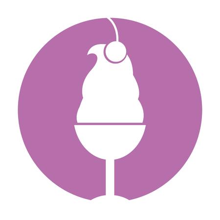delicious ice cream cup icon vector illustration design Illustration