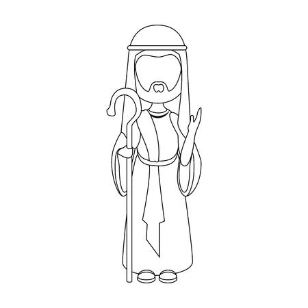 Saint joseph cartoon icon vector illustration graphic design 版權商用圖片 - 81632997