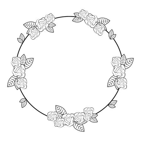 fiori decorativi cornice icona illustrazione vettoriale illustrazione grafica
