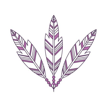 plume: Boho style decorative feathers vector illustration design Illustration