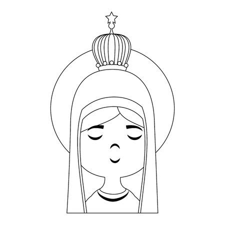 聖母マリア漫画アイコン ベクトル イラスト グラフィック デザイン  イラスト・ベクター素材