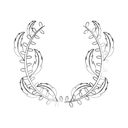 Boho estilo plumas decorativas ilustración vectorial diseño Foto de archivo - 81633334