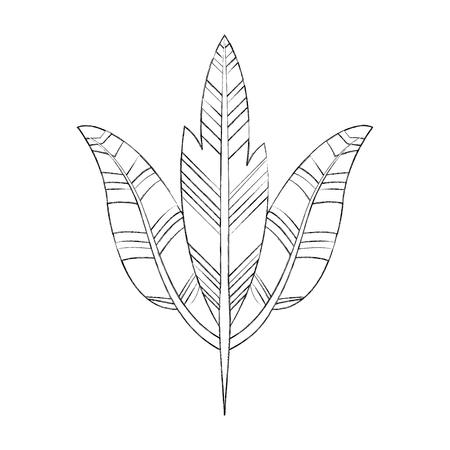 Boho estilo plumas decorativas ilustración vectorial diseño Foto de archivo - 81633343
