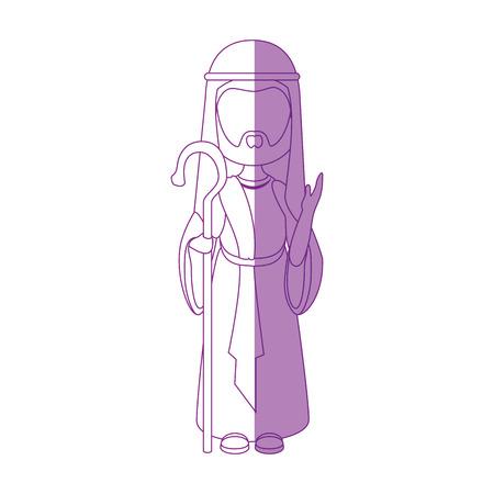 Saint joseph dibujos animados iconos ilustración vectorial diseño gráfico Foto de archivo - 81633392